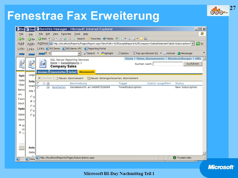 Fenestrae Fax Erweiterung