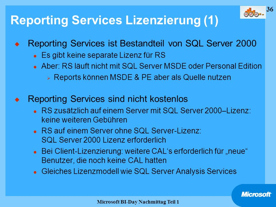 Reporting Services Lizenzierung (1)