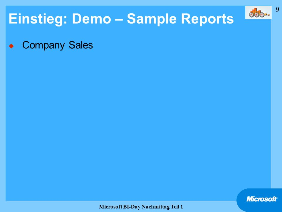 Einstieg: Demo – Sample Reports