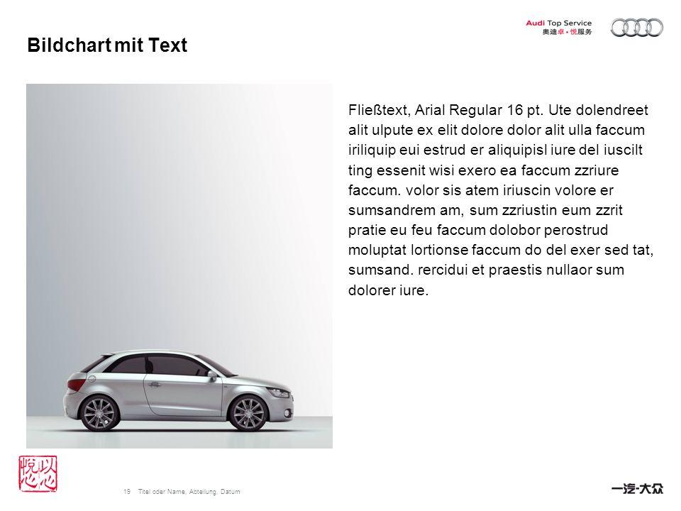 Bildchart mit Text