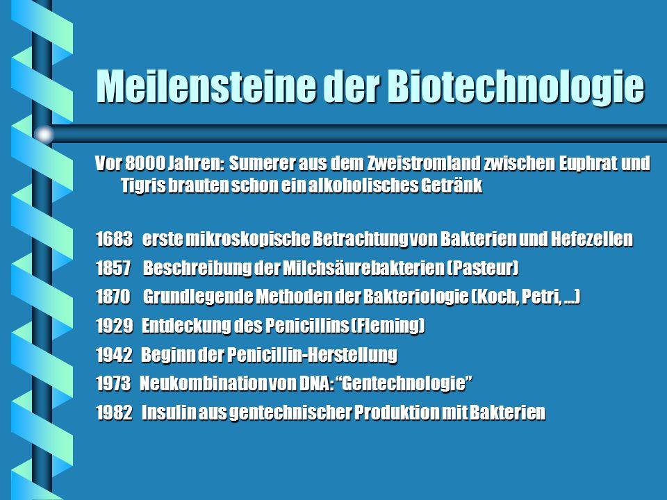 Meilensteine der Biotechnologie