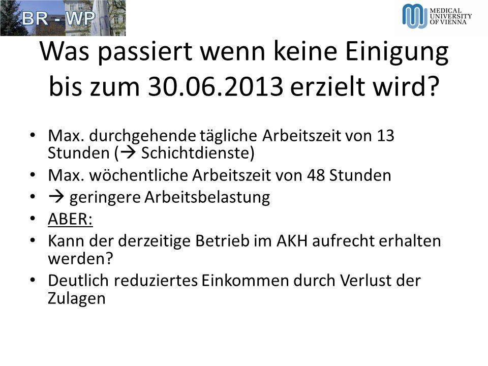Was passiert wenn keine Einigung bis zum 30.06.2013 erzielt wird