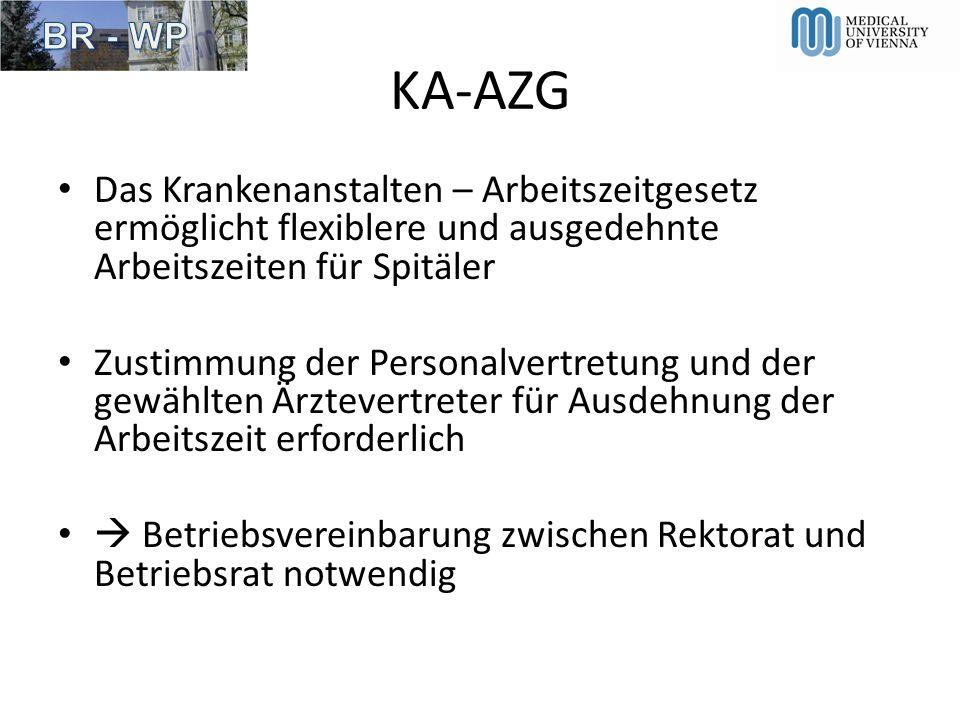 KA-AZG Das Krankenanstalten – Arbeitszeitgesetz ermöglicht flexiblere und ausgedehnte Arbeitszeiten für Spitäler.