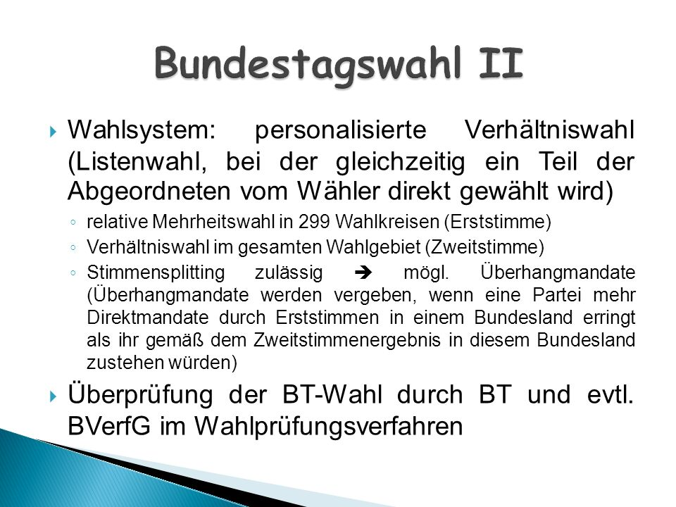 Bundestagswahl II