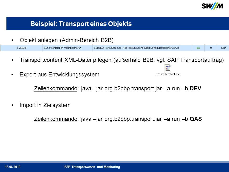 Beispiel: Transport eines Objekts