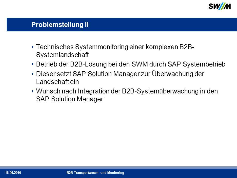 Technisches Systemmonitoring einer komplexen B2B-Systemlandschaft
