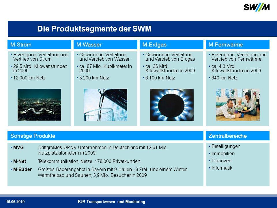 Die Produktsegmente der SWM