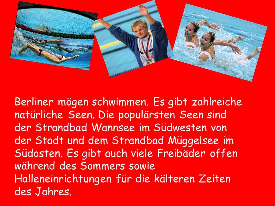 Berliner mögen schwimmen. Es gibt zahlreiche natürliche Seen