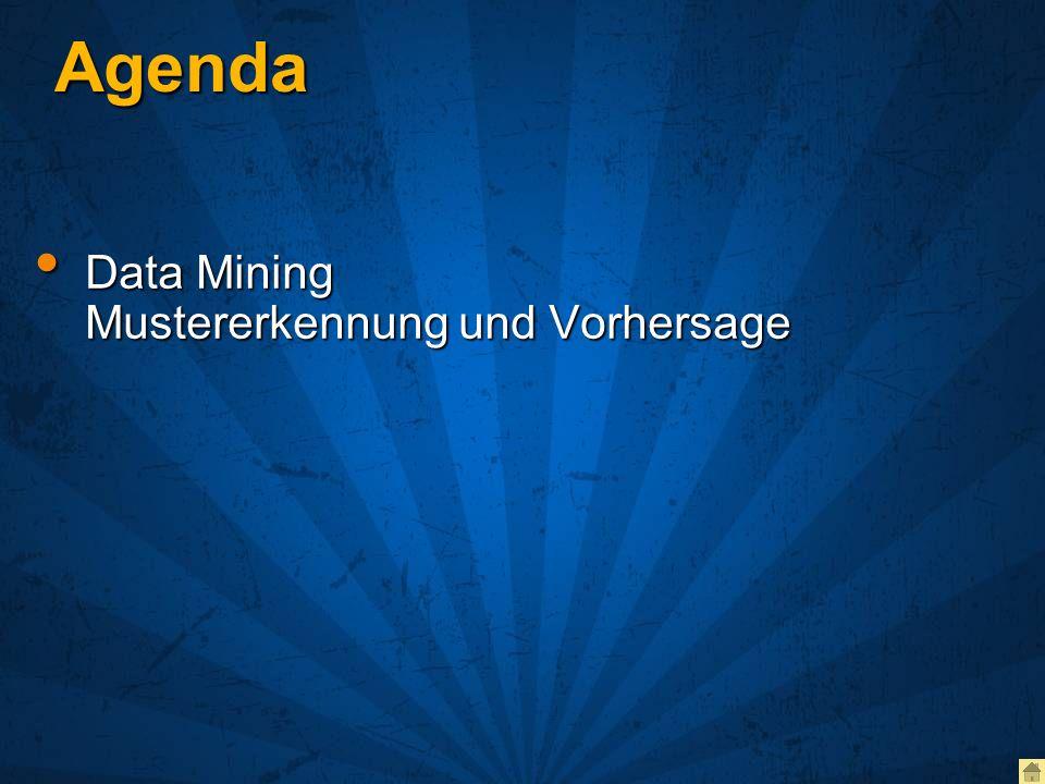 Agenda Data Mining Mustererkennung und Vorhersage