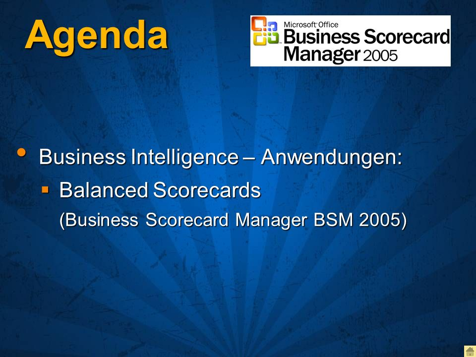 Agenda Business Intelligence – Anwendungen: