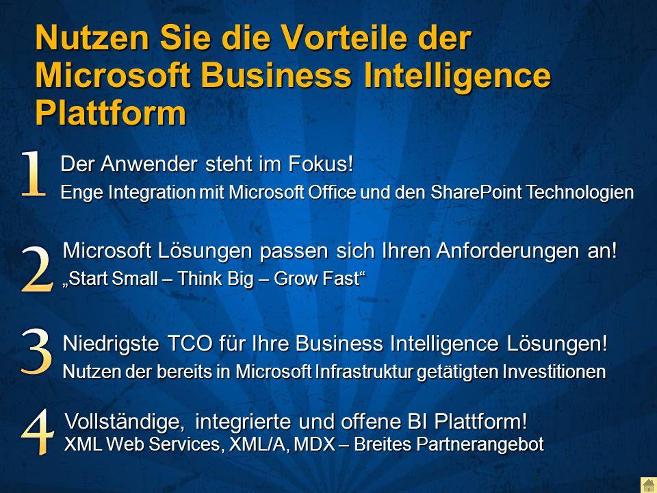Nutzen Sie die Vorteile der Microsoft Business Intelligence Plattform