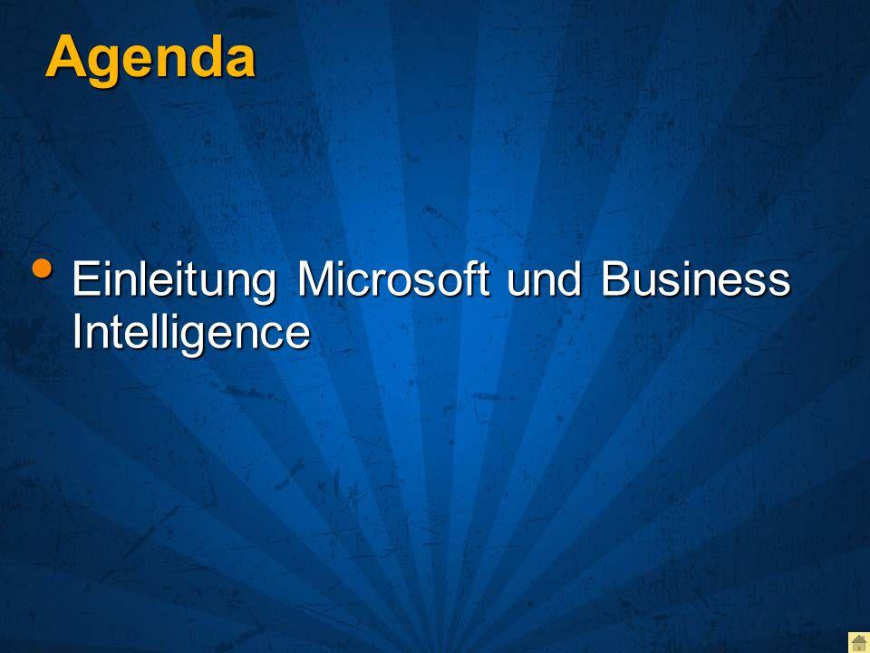 Agenda Einleitung Microsoft und Business Intelligence