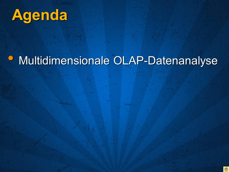 Agenda Multidimensionale OLAP-Datenanalyse