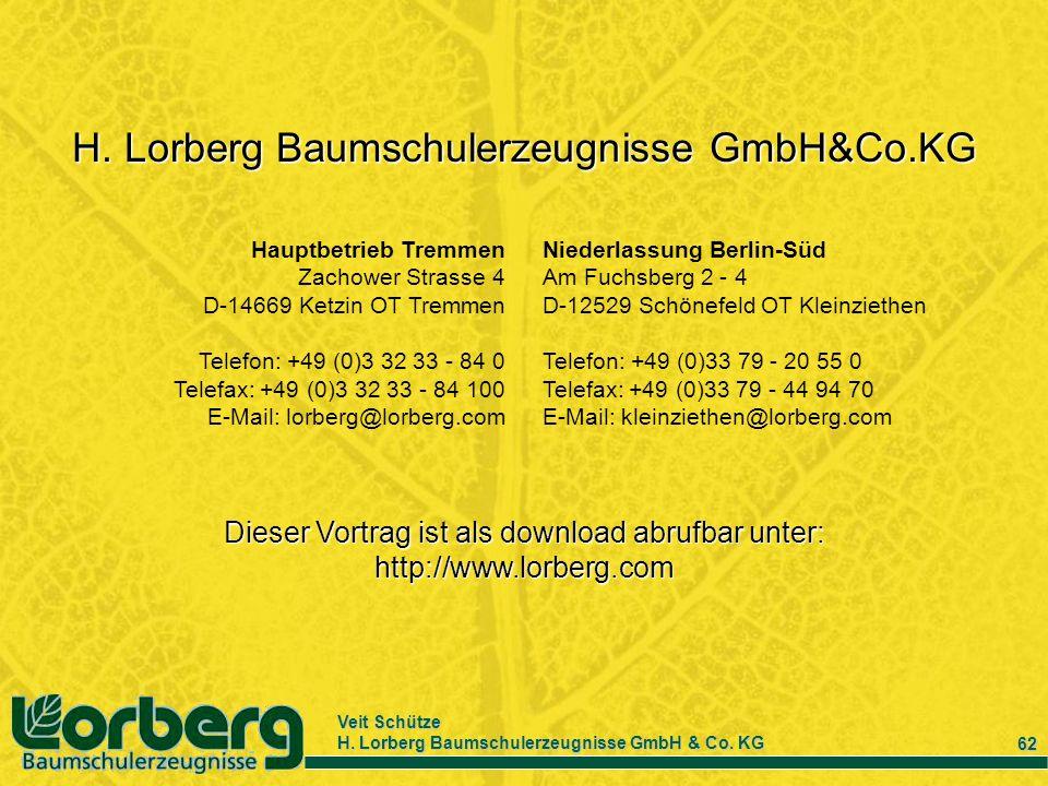 H. Lorberg Baumschulerzeugnisse GmbH&Co.KG