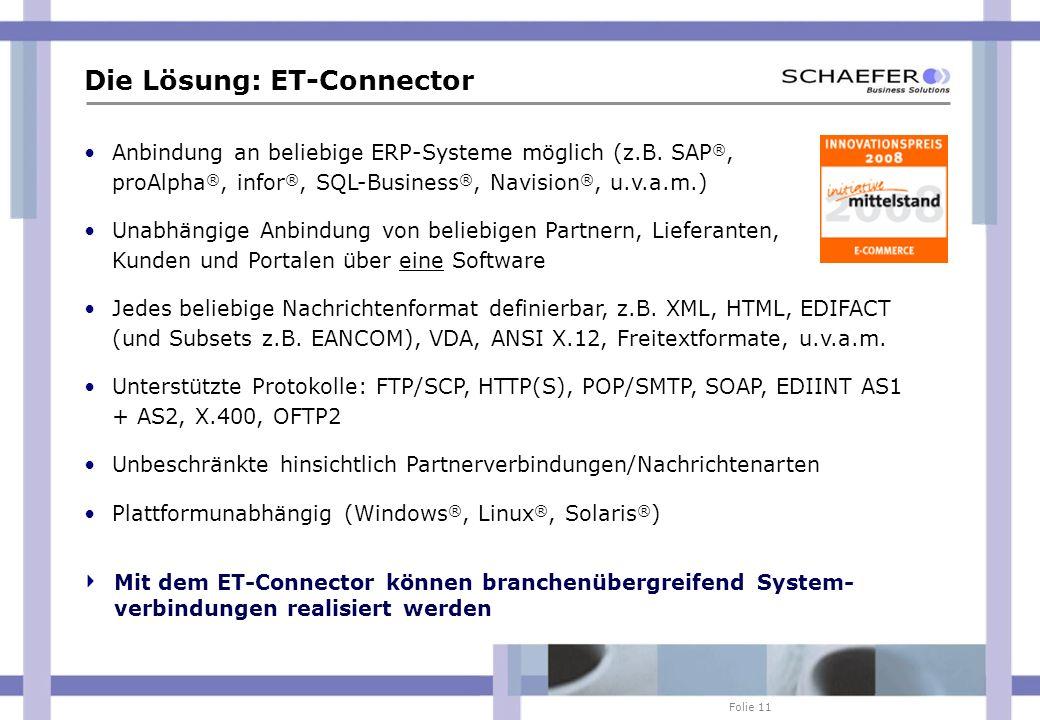 Die Lösung: ET-Connector