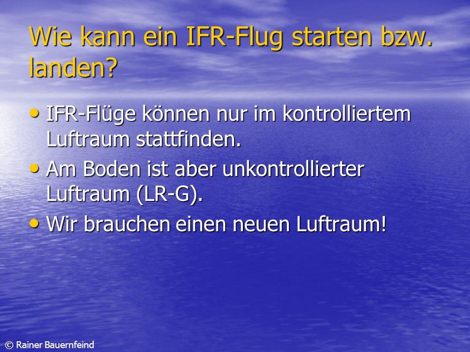 Wie kann ein IFR-Flug starten bzw. landen