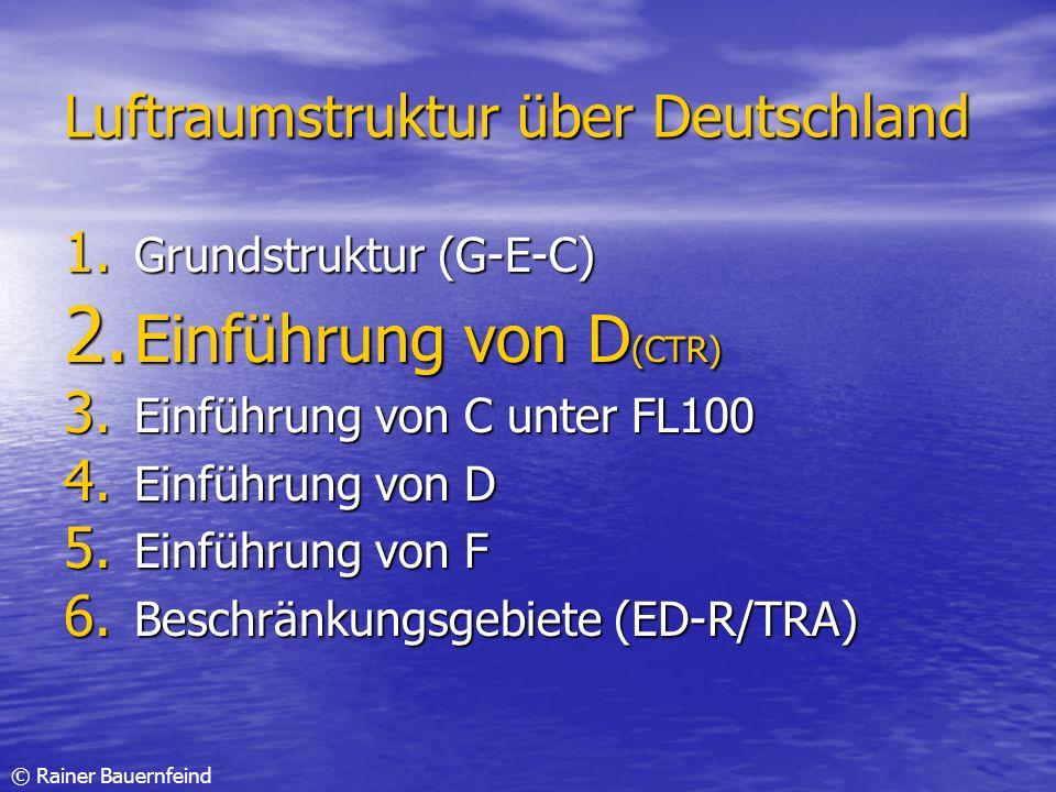 Einführung von D(CTR) Luftraumstruktur über Deutschland