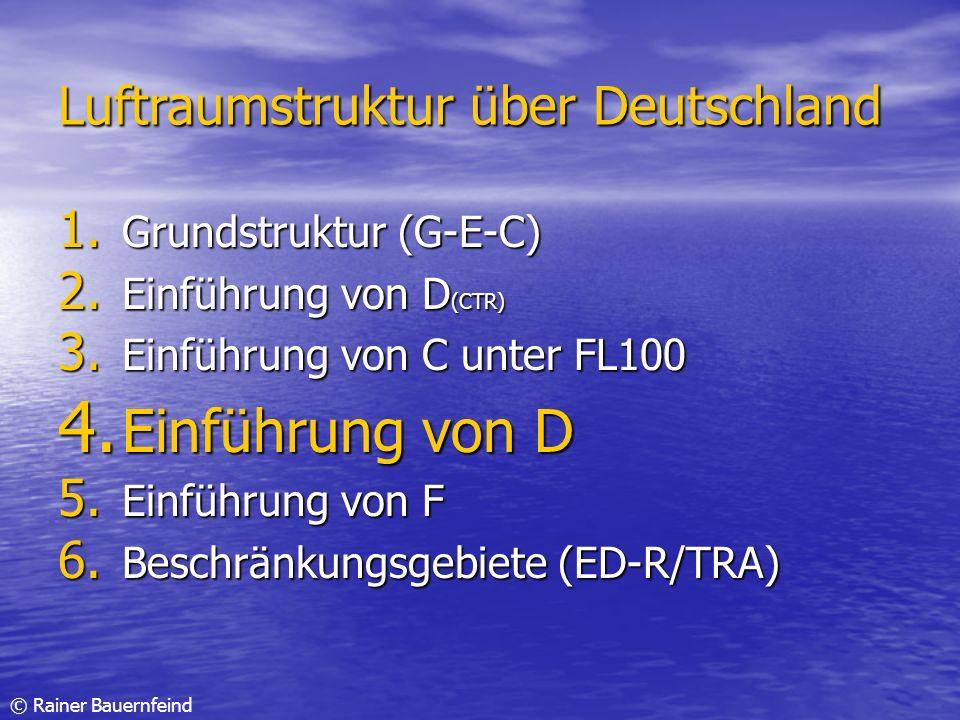 Einführung von D Luftraumstruktur über Deutschland