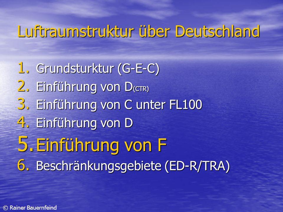 Einführung von F Luftraumstruktur über Deutschland