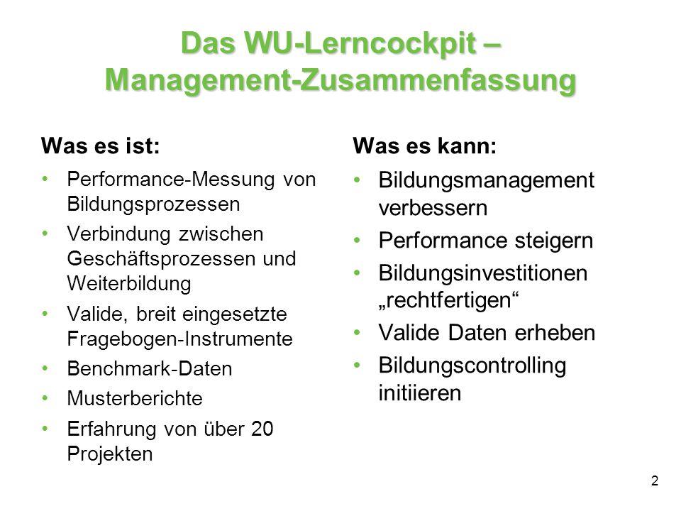 Das WU-Lerncockpit – Management-Zusammenfassung