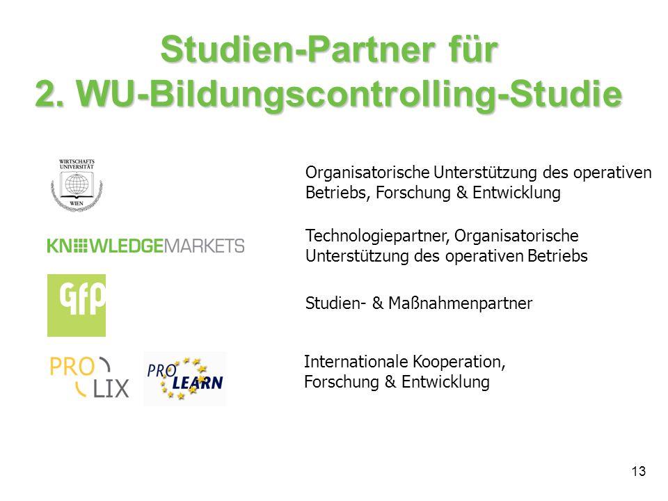 Studien-Partner für 2. WU-Bildungscontrolling-Studie