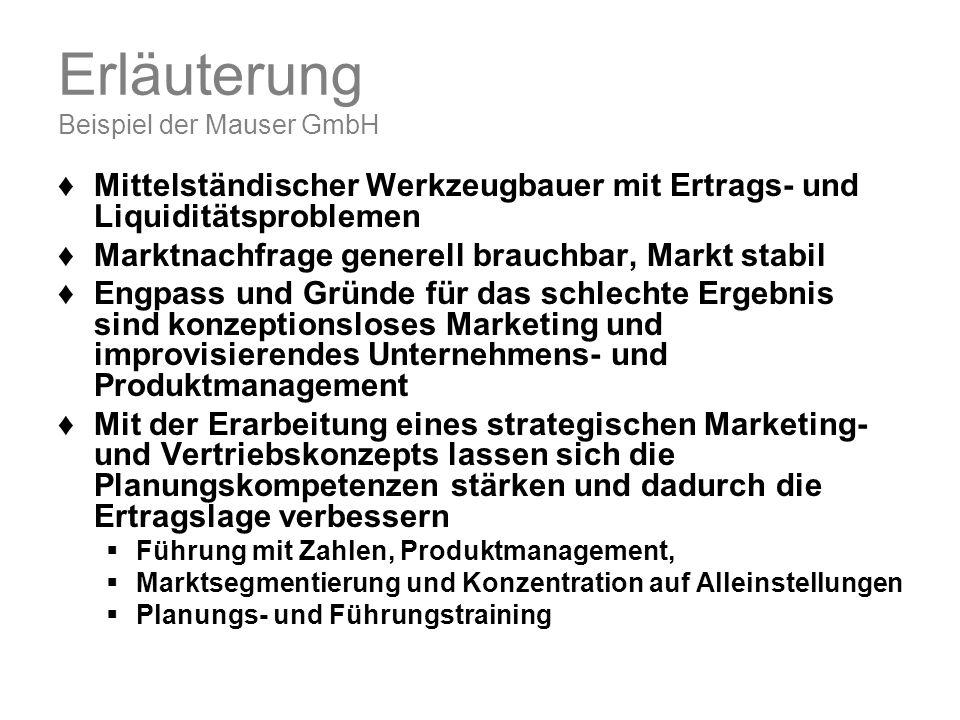 Erläuterung Beispiel der Mauser GmbH