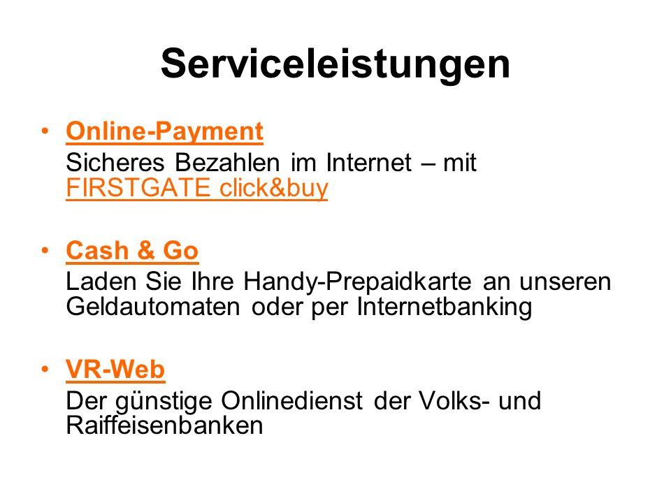 Serviceleistungen Online-Payment
