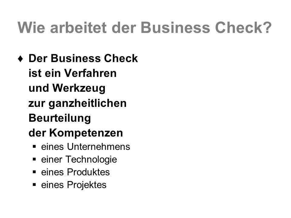 Wie arbeitet der Business Check