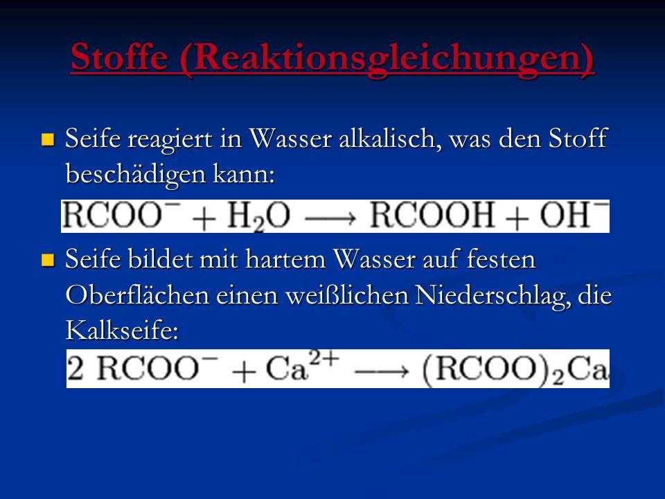 Stoffe (Reaktionsgleichungen)