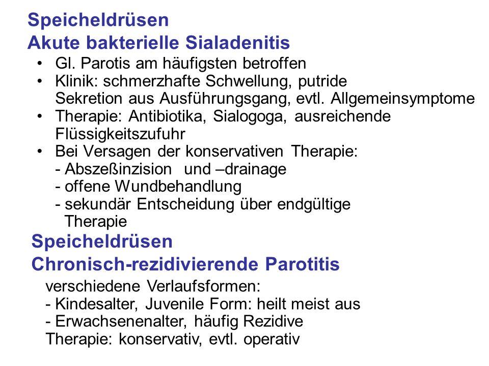 Speicheldrüsen Akute bakterielle Sialadenitis