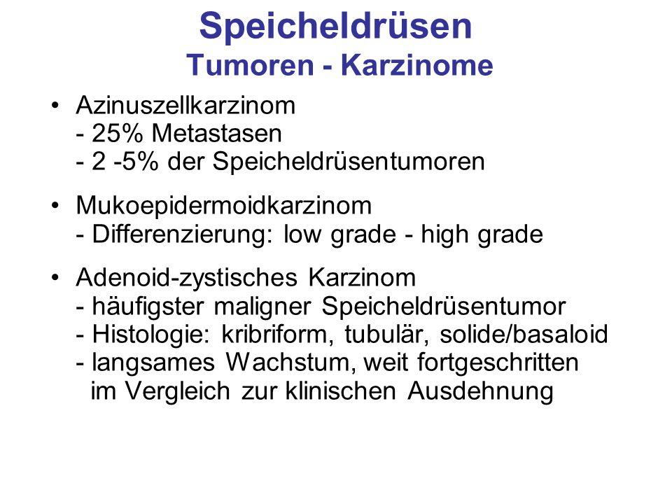 Speicheldrüsen Tumoren - Karzinome