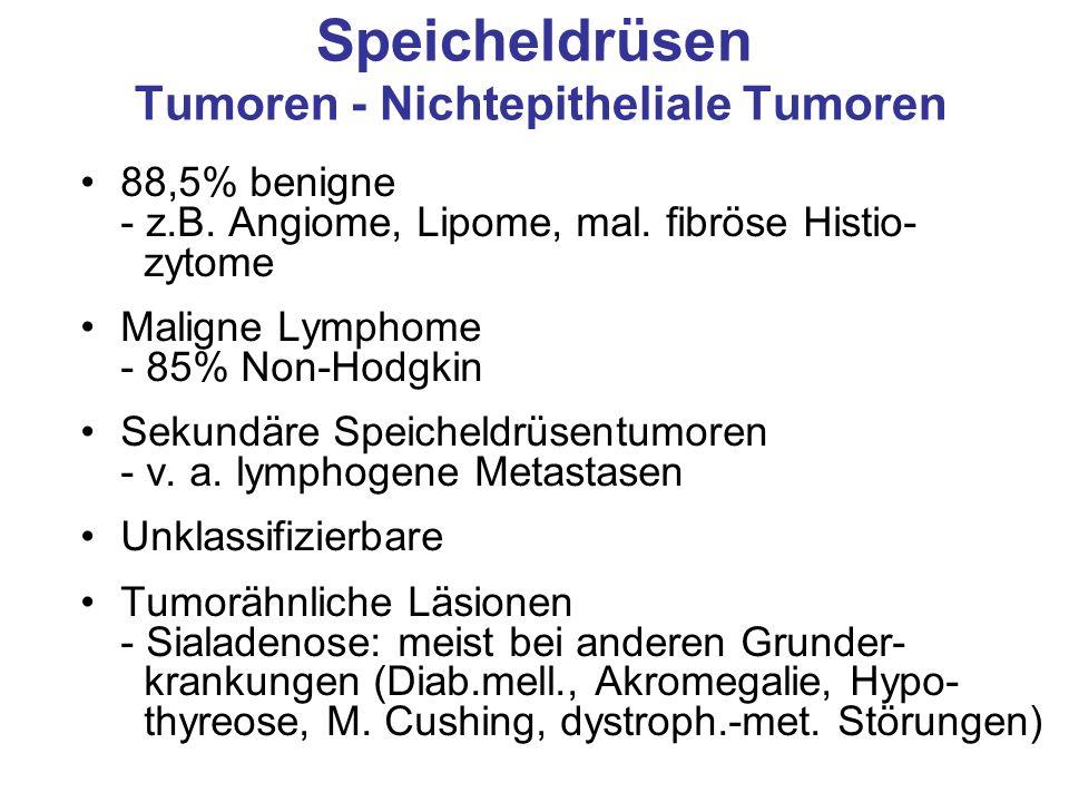 Speicheldrüsen Tumoren - Nichtepitheliale Tumoren