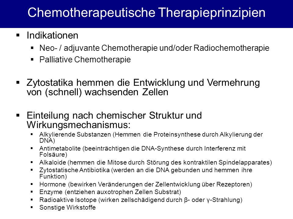 Chemotherapeutische Therapieprinzipien