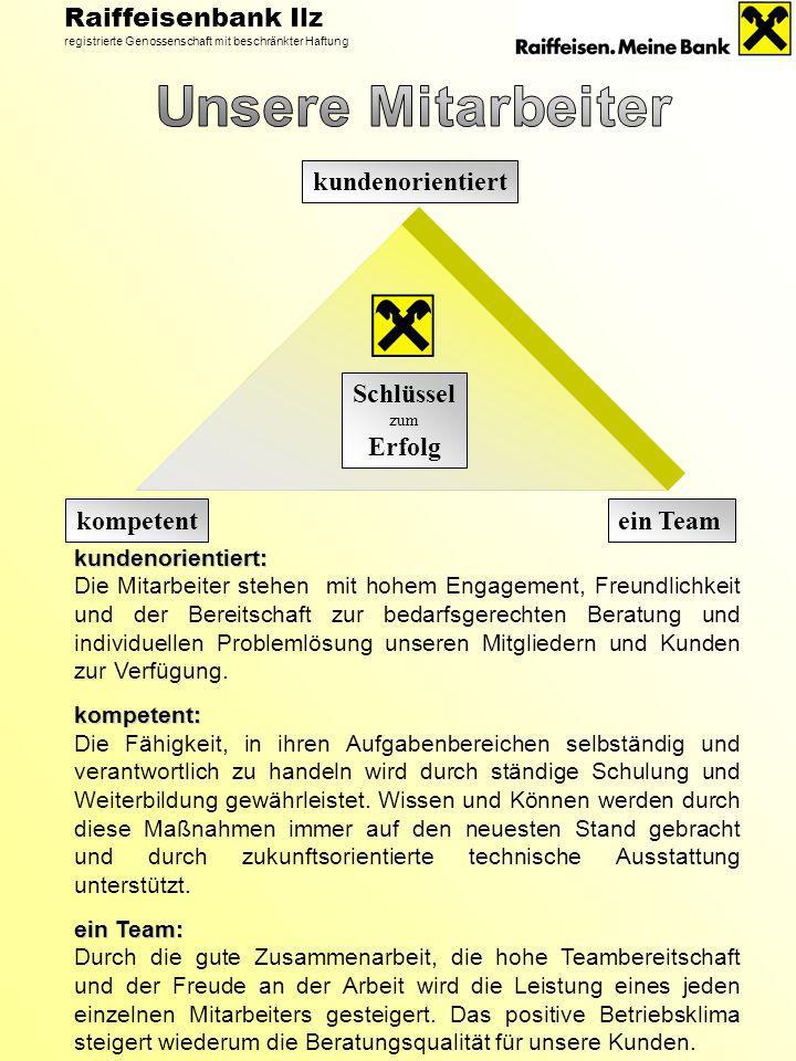 Unsere Mitarbeiter Raiffeisenbank Ilz kundenorientiert Schlüssel