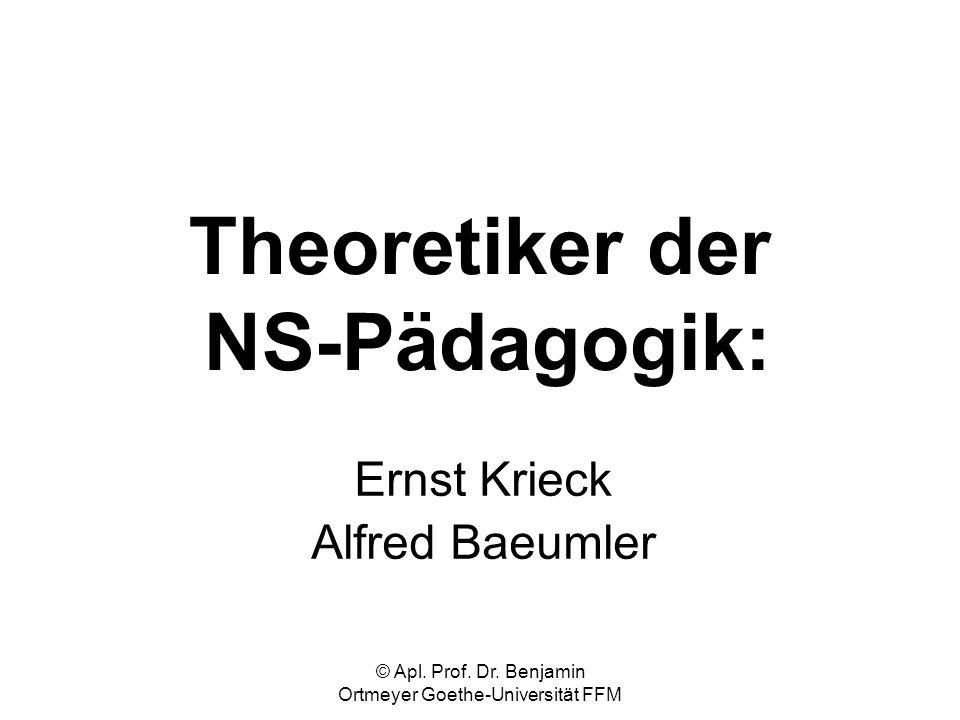 Theoretiker der NS-Pädagogik: