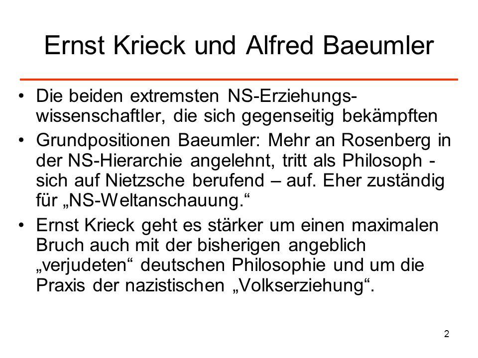 Ernst Krieck und Alfred Baeumler