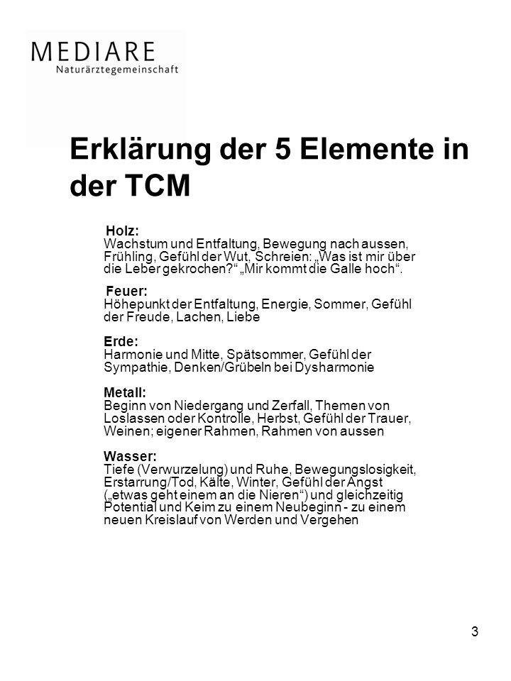 Erklärung der 5 Elemente in der TCM