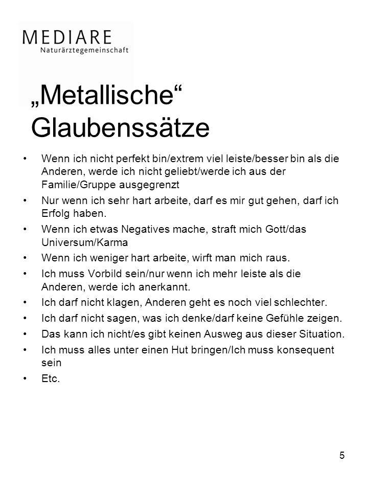 """""""Metallische Glaubenssätze"""