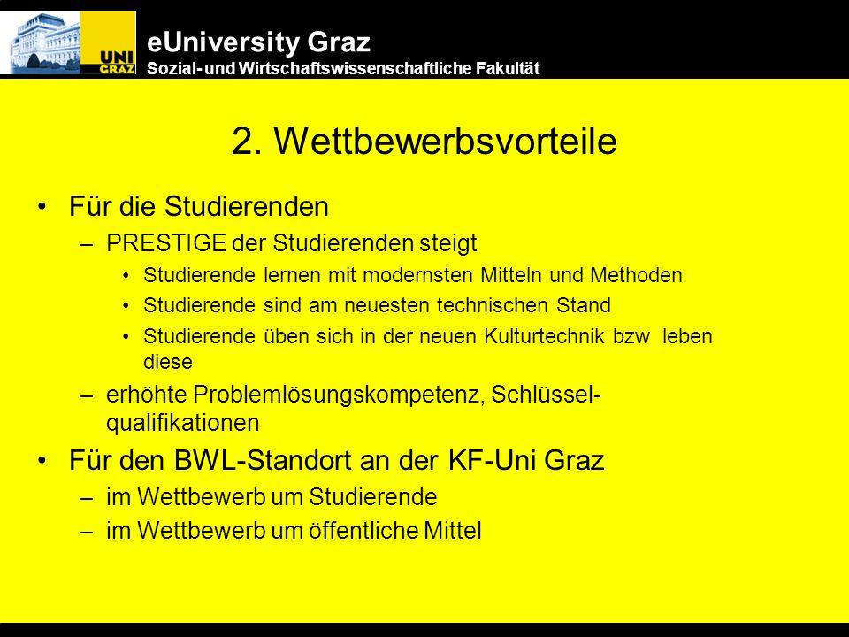 2. Wettbewerbsvorteile Für die Studierenden