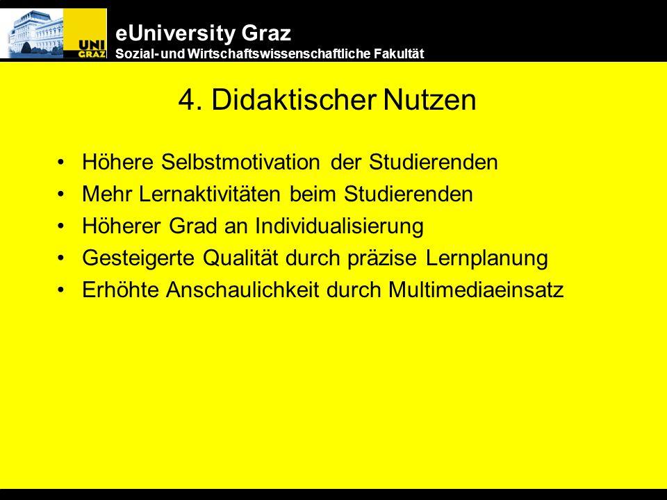 4. Didaktischer Nutzen Höhere Selbstmotivation der Studierenden