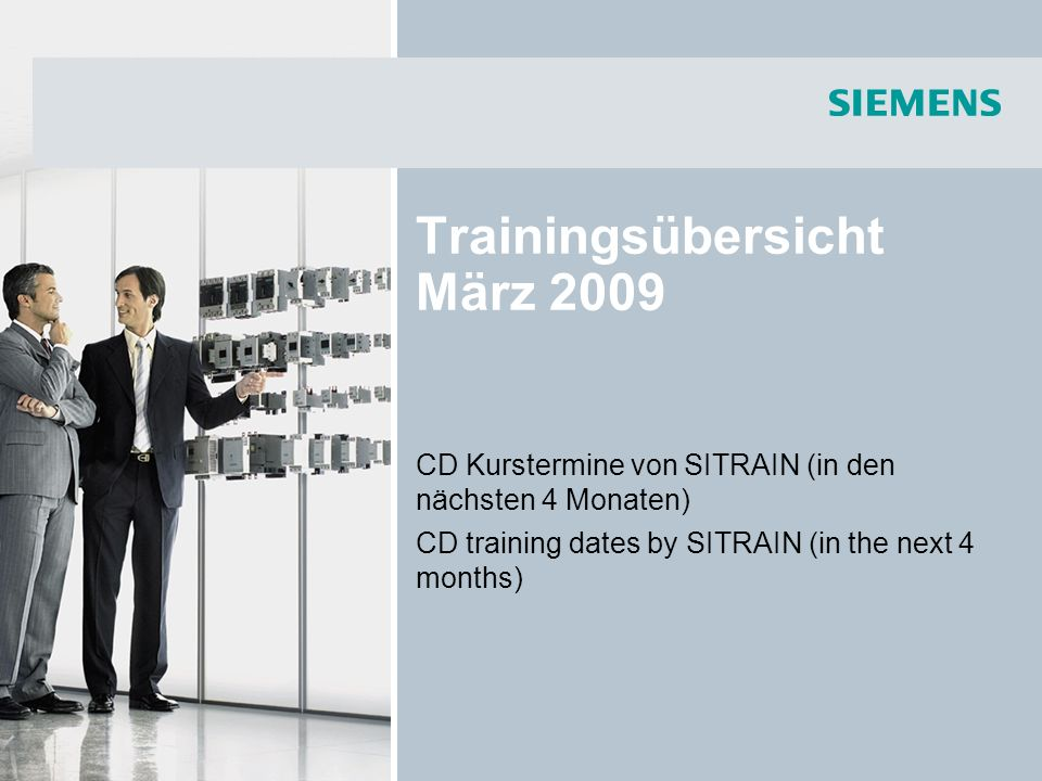 Trainingsübersicht März 2009