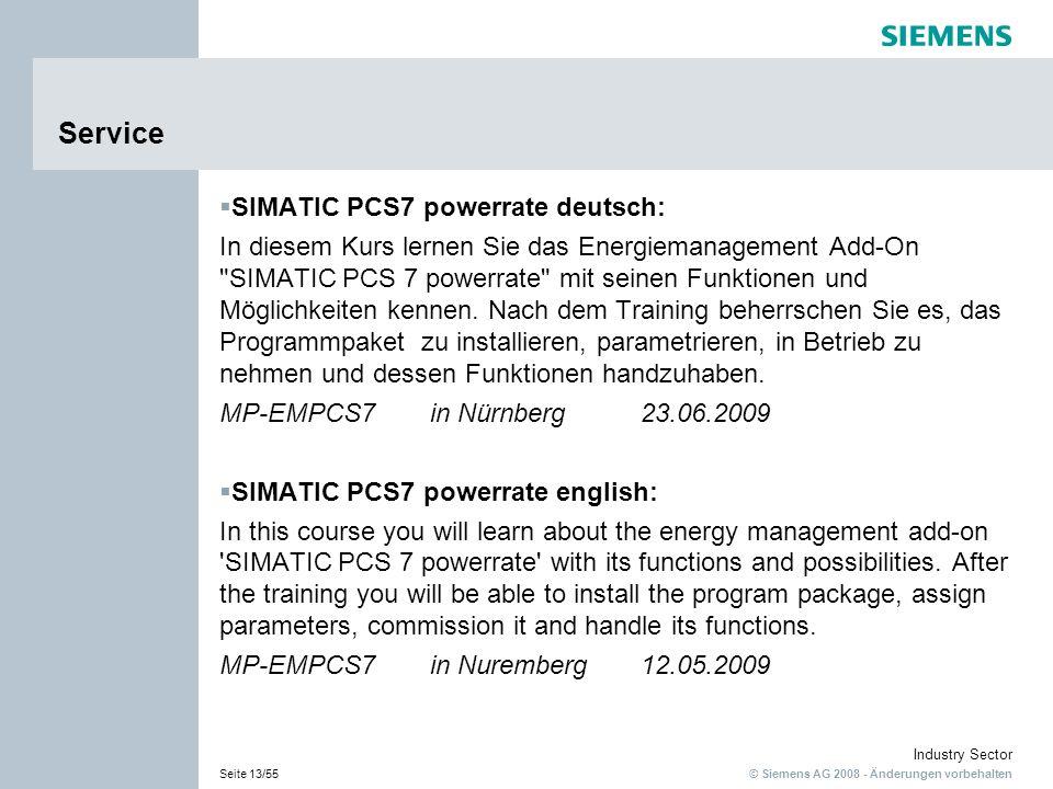 Service SIMATIC PCS7 powerrate deutsch: