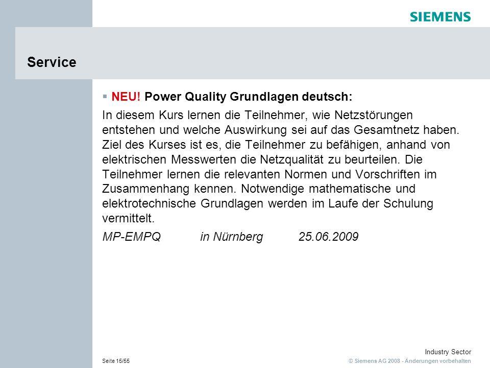Service NEU! Power Quality Grundlagen deutsch: