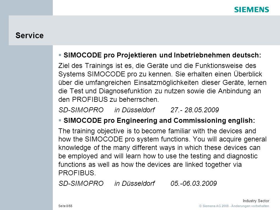 Service SIMOCODE pro Projektieren und Inbetriebnehmen deutsch: