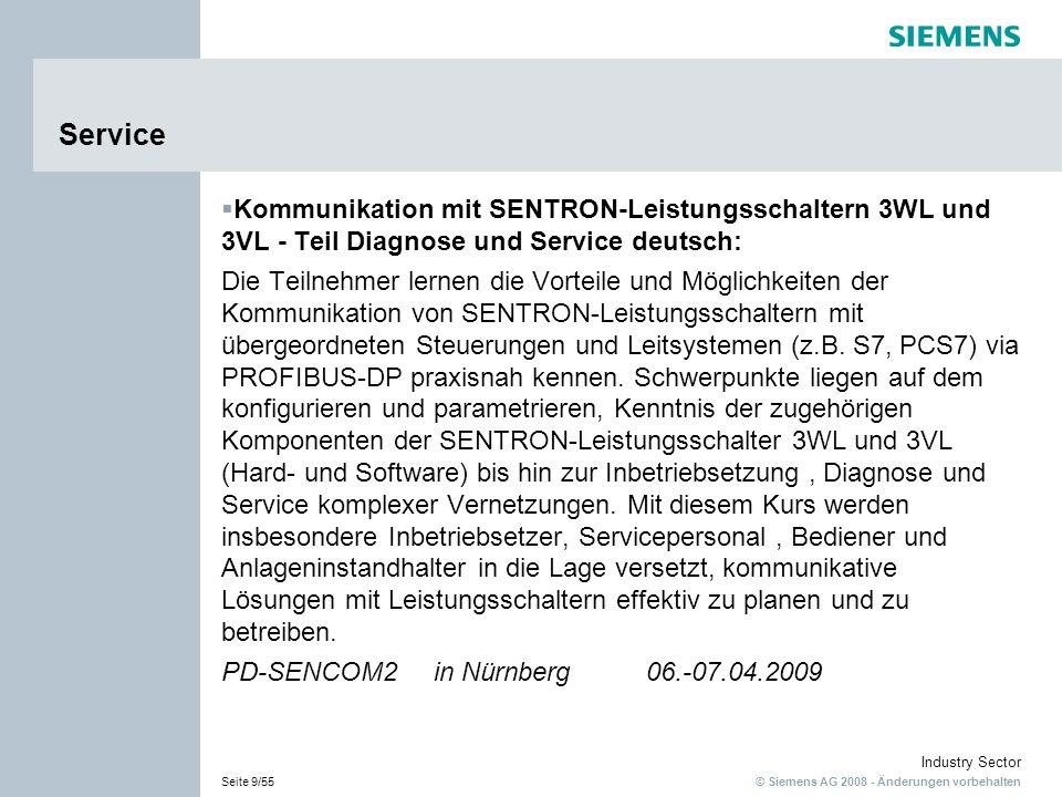 Service Kommunikation mit SENTRON-Leistungsschaltern 3WL und 3VL - Teil Diagnose und Service deutsch: