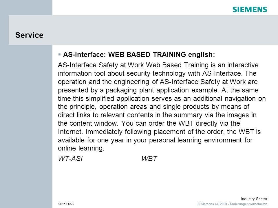 Service AS-Interface: WEB BASED TRAINING english: