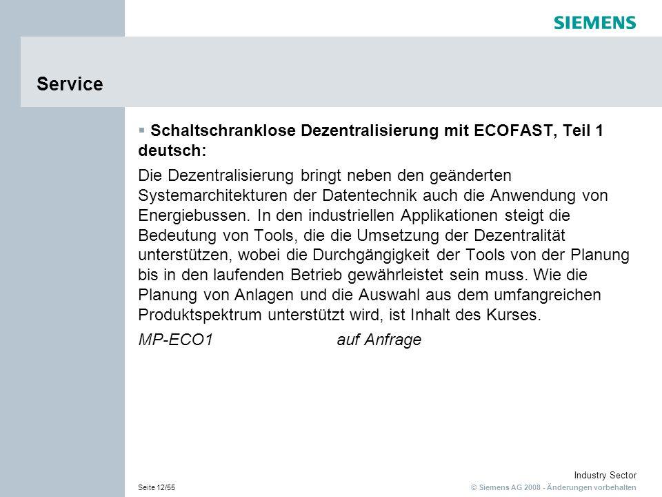 Service Schaltschranklose Dezentralisierung mit ECOFAST, Teil 1 deutsch: