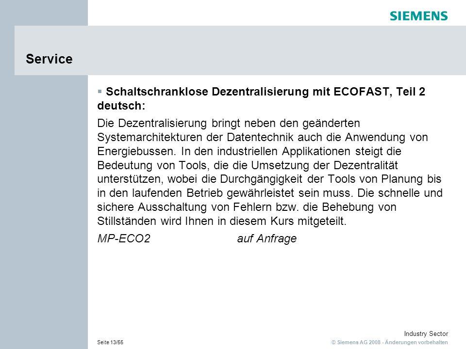 Service Schaltschranklose Dezentralisierung mit ECOFAST, Teil 2 deutsch:
