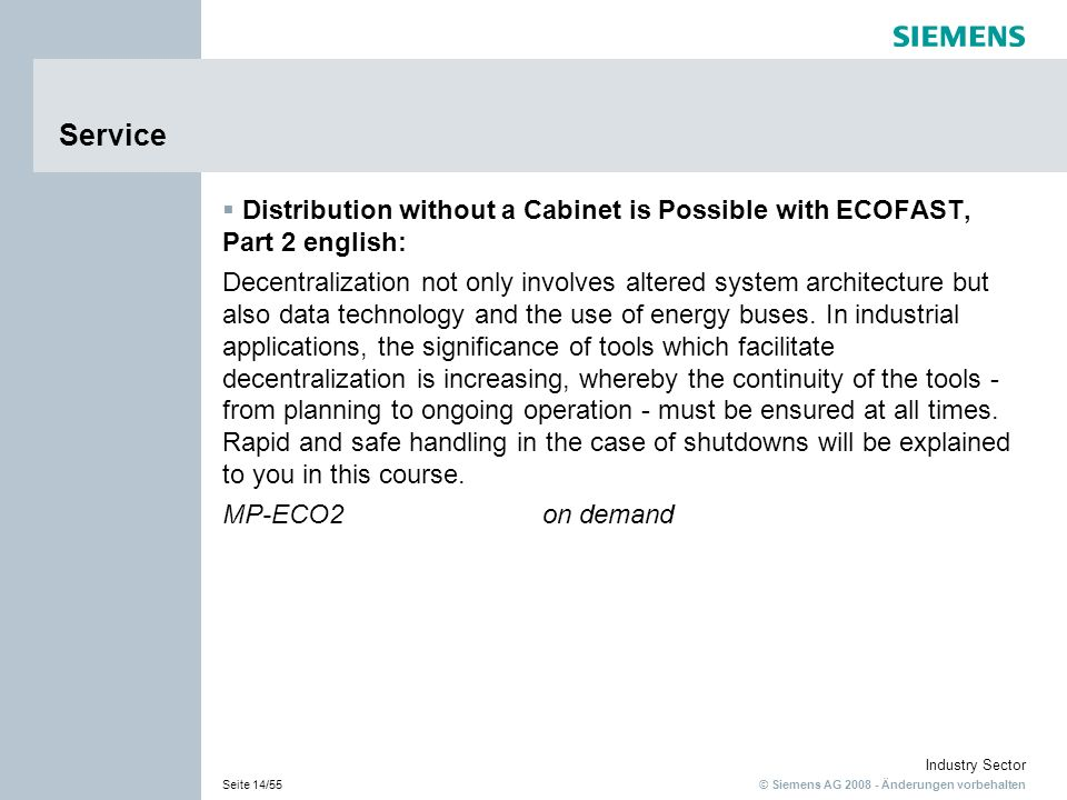 Service Distribution without a Cabinet is Possible with ECOFAST, Part 2 english:
