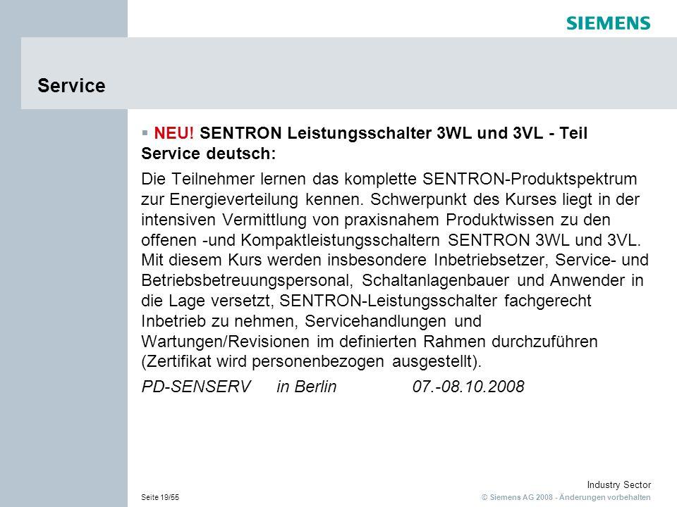 Service NEU! SENTRON Leistungsschalter 3WL und 3VL - Teil Service deutsch: